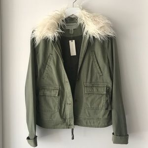 NWT Anthropologie Marrakech Faux Fur Jacket Small